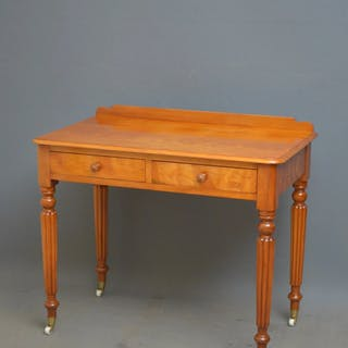Victorian Satin Birch Writing Table - Nimbus Antiques
