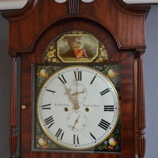 Regency Longcase Clock by W. Preston, Lancaster - Nimbus Antiques