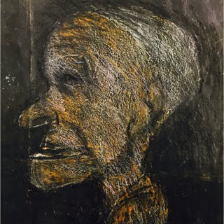 Berry, Arthur (1925 – 1994) Man in Profile - Trent Art
