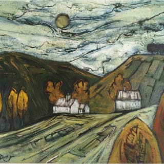 Capper, Steve (1944 – ) Cottages - Trent Art