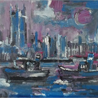 Isherwood, James Lawrence (1917-1989) Thames Scene, London - Trent Art