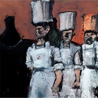 Pearsall, Ian R. (1967 – ) Potbank Labour: Carrying Saggars II - Trent Art