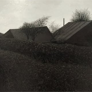 Simcock, Jack (1929-2012) Bare Trees and Roofs - Trent Art