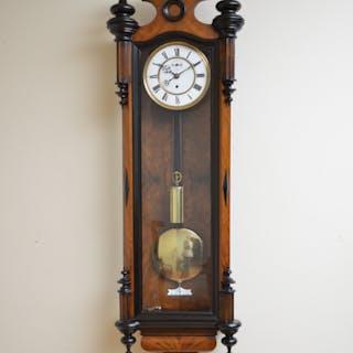 Victorian Vienna Clock in Walnut - Nimbus Antiques