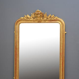 Large XIXth Century French Gilded Mirror - Nimbus Antiques