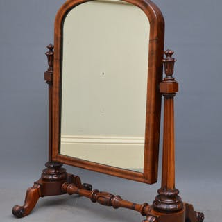 Superb Early Victorian Mahogany Dressing Table Mirror - Nimbus Antiques