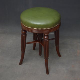 Regency Mahogany Piano Stool - Nimbus Antiques