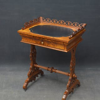 19th Century Walnut Games and Work Table - Nimbus Antiques