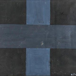Ad Reinhardt American Minimalist Oil on Canvas