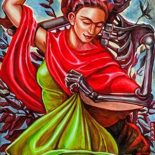 Frida Kahlo Mexican Surrealist Oil on Canvas