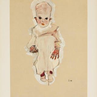 Egon Schiele Austrian Signed Litho S10 1910