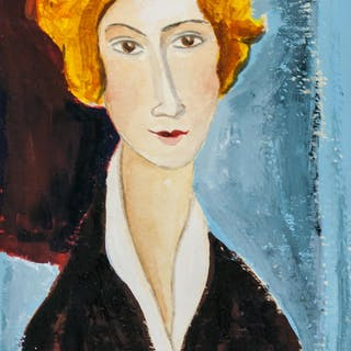 Amedeo Modigliani Italian Fauvist Mixed Media