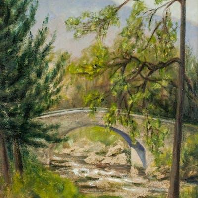 Oil on Board Landscape Signed Crosbee 1932