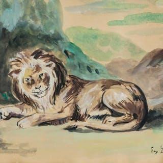 Eugene Delacroix French Romanticist Watercolor