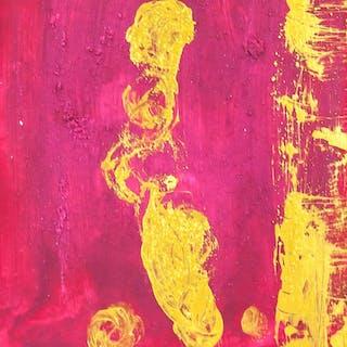 Yves Klein French Noueau Realisme Oil on Canvas