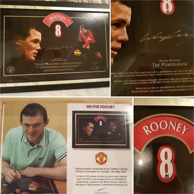 Lot 6: Wayne Rooney Official Signed and framed picture. Come