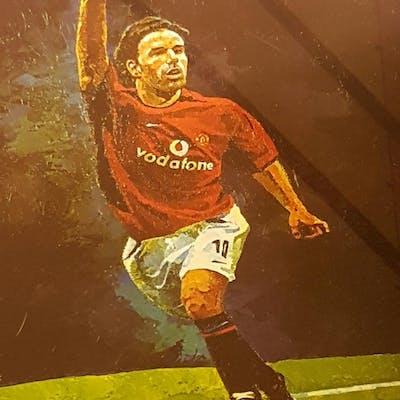 Lot 153 - Signed and Framed Ruud Van Nistelrooy print. Rutge
