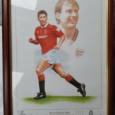 Lot 480 - Limited Edition Signed Print of Manchester United