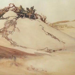Elizabeth Warren 1886 1980 Dunes Watercolor Current