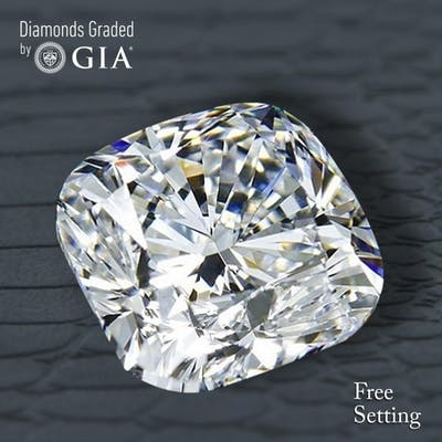 5.01 ct, E/VS2, Cushion cut Diamond, 63% off Rapaport List Price (GIA