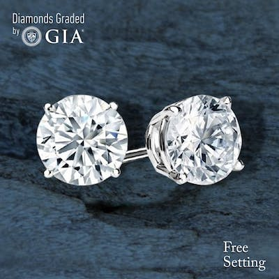 6.07 carat diamond pair Round cut Diamond GIA Graded 1) 3.01 ct, Color