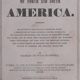 1856 INDIAN RACES OF AMERICA Book