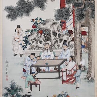 JEN YE FENG, Fine Chinese Scroll Painting