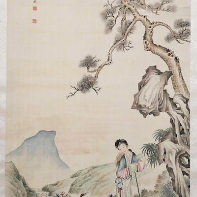 YU JINGZHI, Fine Chinese Scroll Painting | Barnebys