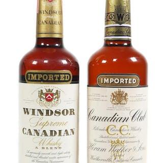 (2) Sealed Canadian Whiskey Bottles, 1960s