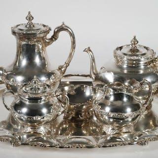 Jose Marmolejo Sterling Silver Tea Set