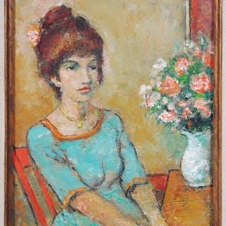BEN SHUTE, Encaustic Painting, Portrait