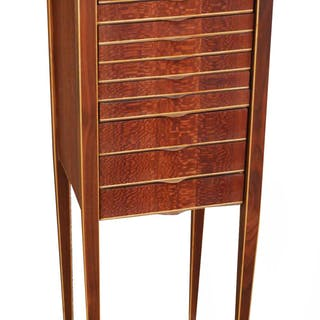 """48"""" Jewelry Armoire Walnut Maple Chest of Drawers"""