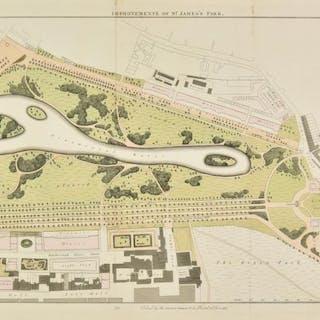 London. Basire (James), Plan of St. James's Park, 1827