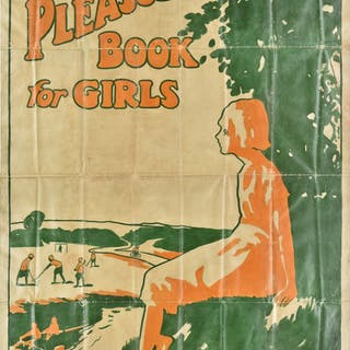 * Poster artwork. Pleasure Book for Girls poster, circa 1920