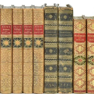 Bindings. The Works of Alexander Pope, 8 volumes, 1847, [and