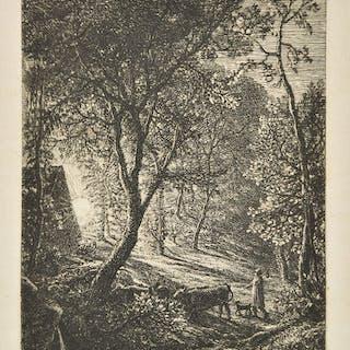 * Palmer (Samuel, 19805-1881). The Herdsman's Cottage, 1850