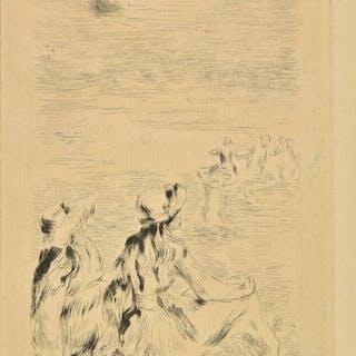 * Renoir (Pierre-Auguste, 1841-1919). Sur la plage a Berneva