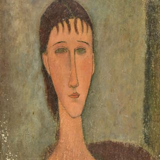 * Canals (Miguel, 1925-1995). Portrait of a young girl (1910