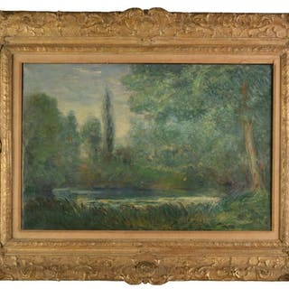 * Monet (Claude, 1840-1926, after). Landscape with Pool, 20t