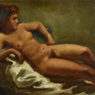 * Serneels (Antoine, 1909-1999). Reclining Nude
