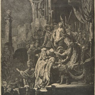 * Rembrandt (Harmensz. van Rijn, 1606-1669). Christ Before P