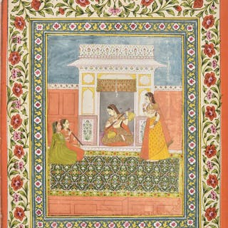 * Mughal School. Musical scene, northern India, late 18th ce