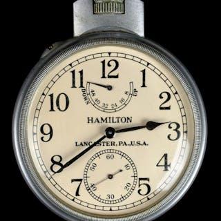 * Pocket Watch. A WWII U.S. Navy Chronometer pocket watch by
