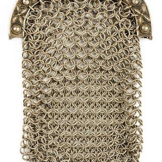 * Purse. A George III silver mesh purse by John Thropp, Birm