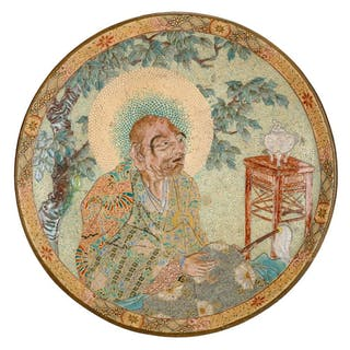 * Japanese Charger. A large Japanese pottery charger, Meiji