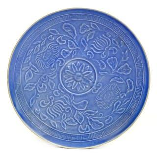 * Japanese Dish. A Japanese pottery dish, Meiji Period (1868