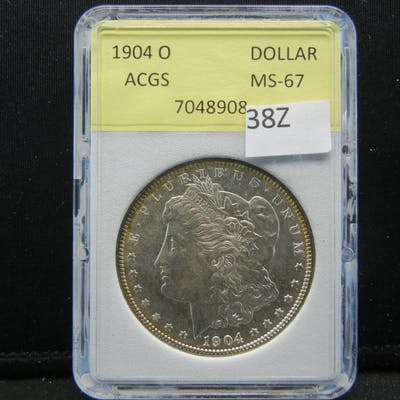 1904-O Morgan Silver Dollar. ACGS MS67