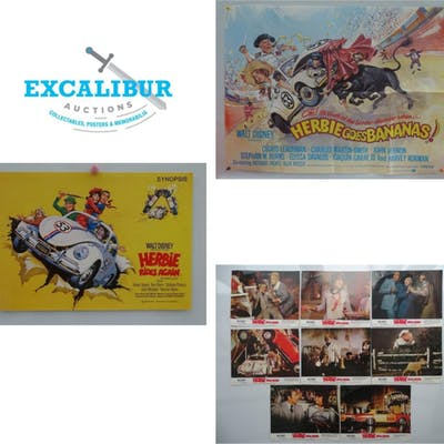 HERBIE LOT: A PAIR OF UK QUAD FILM POSTERS to include: THE L