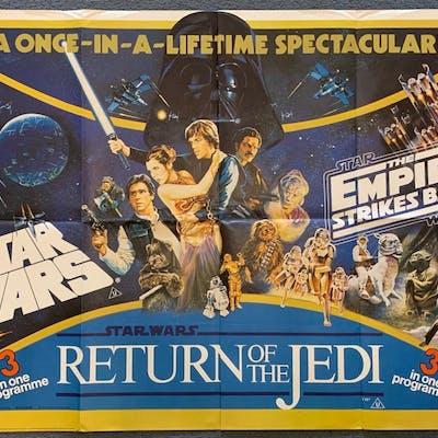 STAR WARS TRIPLE BILL (1983) - STAR WARS / EMPIRE STRIKES BA