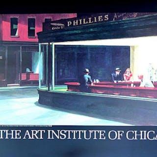 Edward Hopper,NIGHTHAWK 1942 Classic American painting